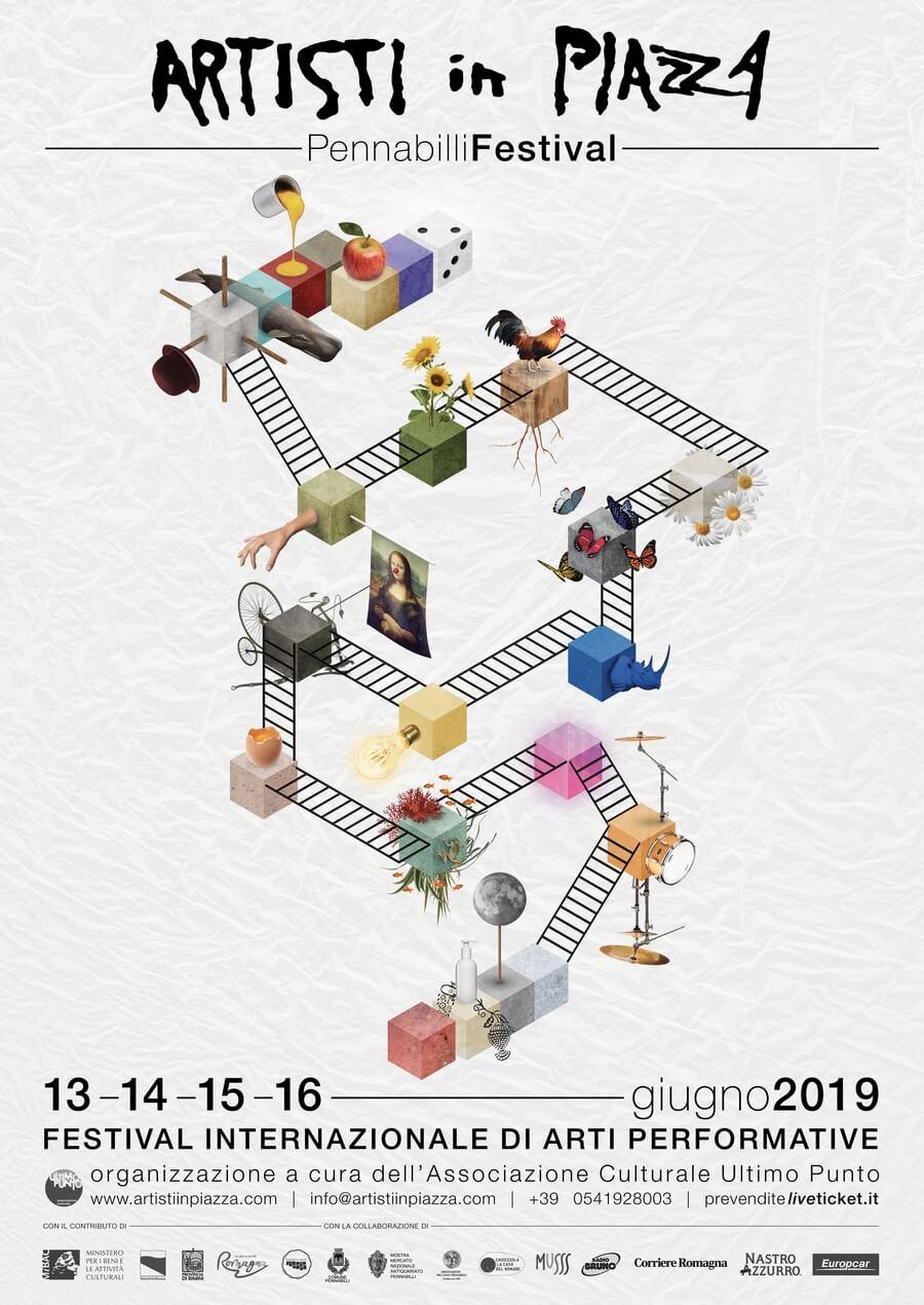 Pennabilli Festival Artisti in Piazza / Locandina 2019